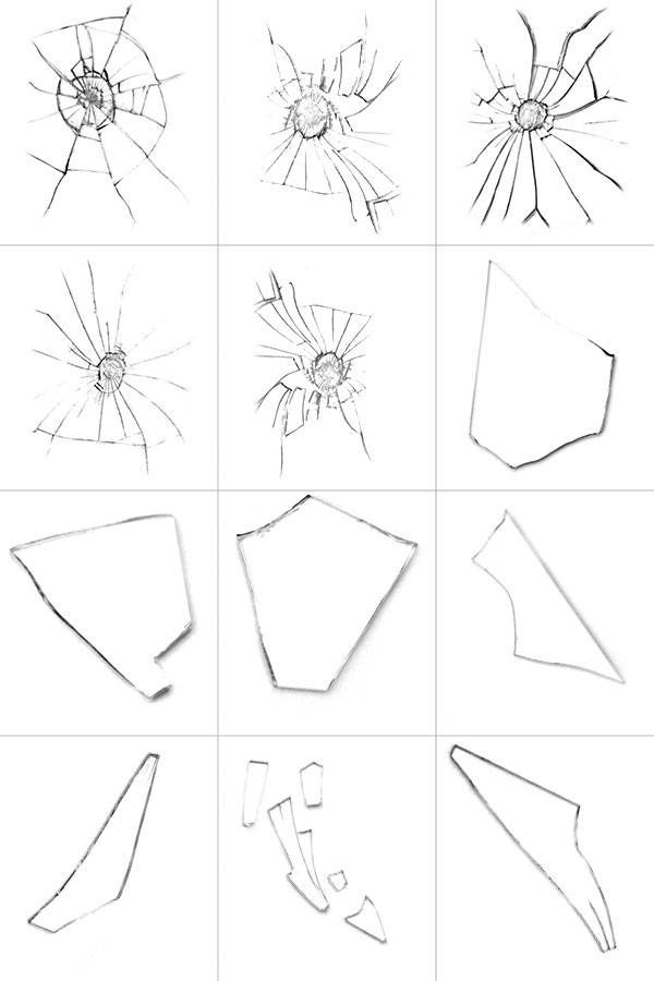 Free Shattered Glass Brushes for your personal use