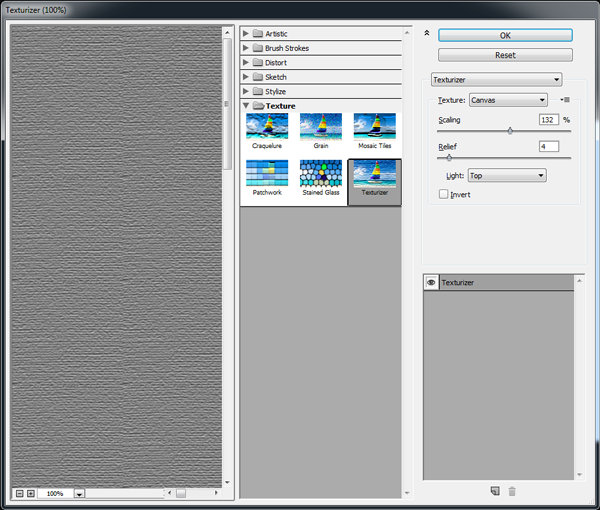 Adding a canvas texture