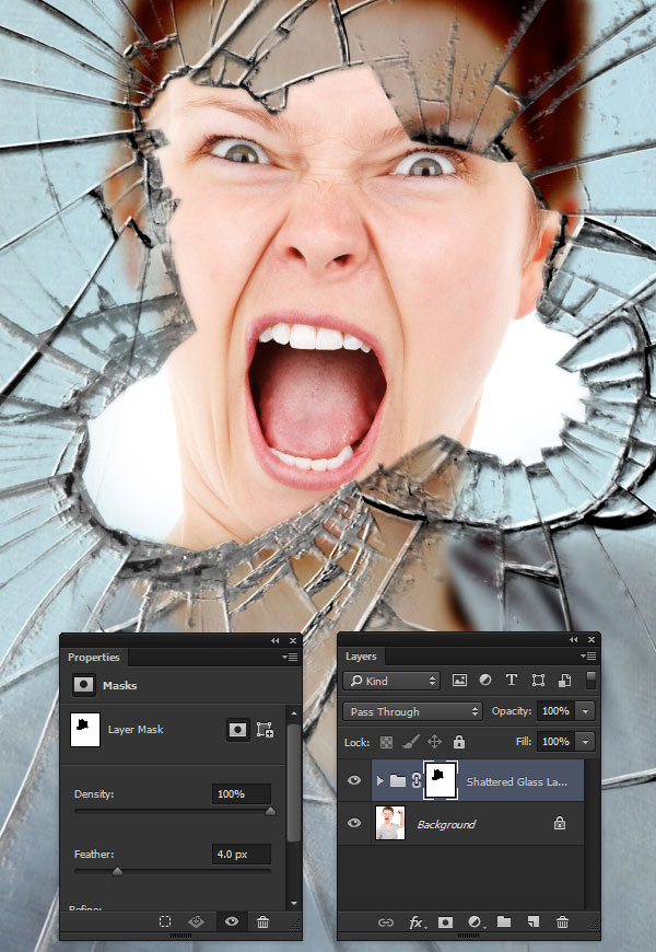 How to Apply Custom Shattered Glass Brushes in Adobe Photoshop