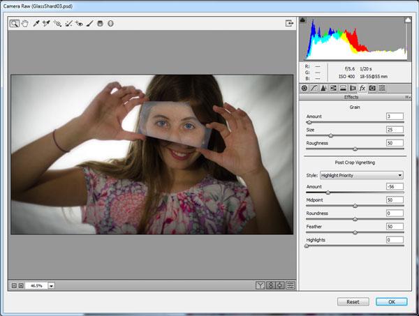 Add a lens vignette