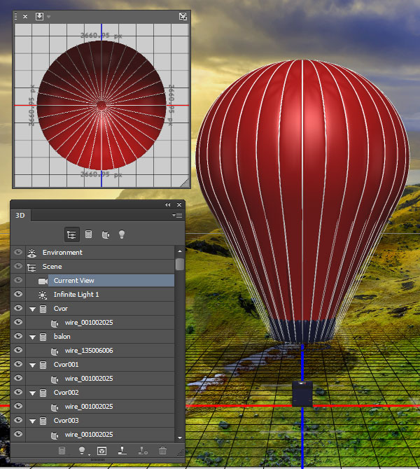 Import the 3D balloon model