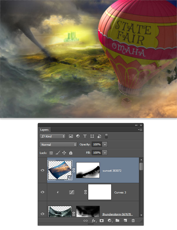 Use the masking trick to get a soft cloud effect