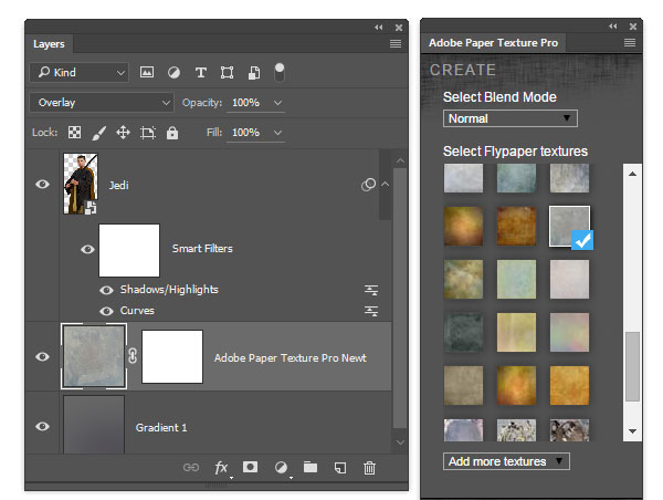 Use the Adobe Paper Texture pro to add a subtle background texture