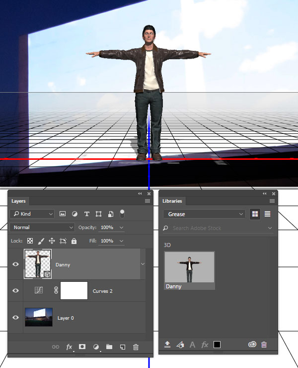 Add the Danny model as a 3D object