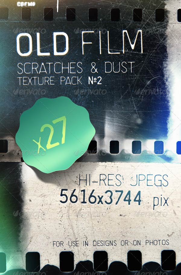 Old film scratches and dust texture pack vol2