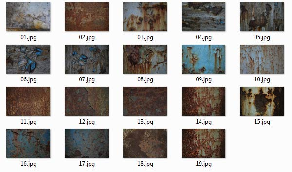 Look through the available rust textures