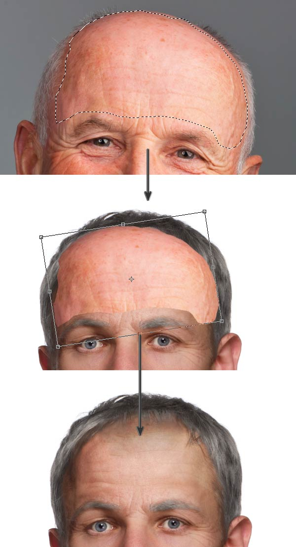 Add wrinkles to the forehead