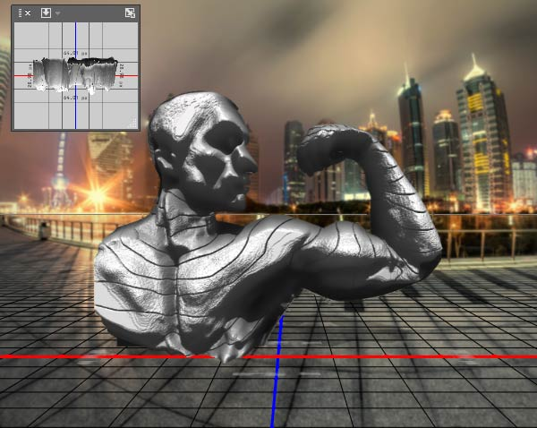 Create a 3D layer based on depth map