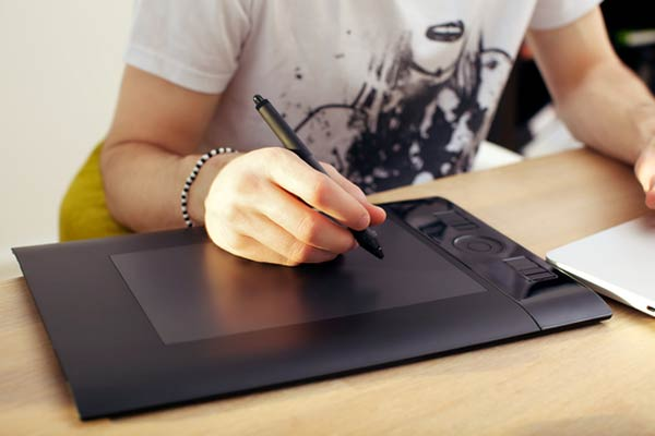 Using Touchpad Graphics Tablet