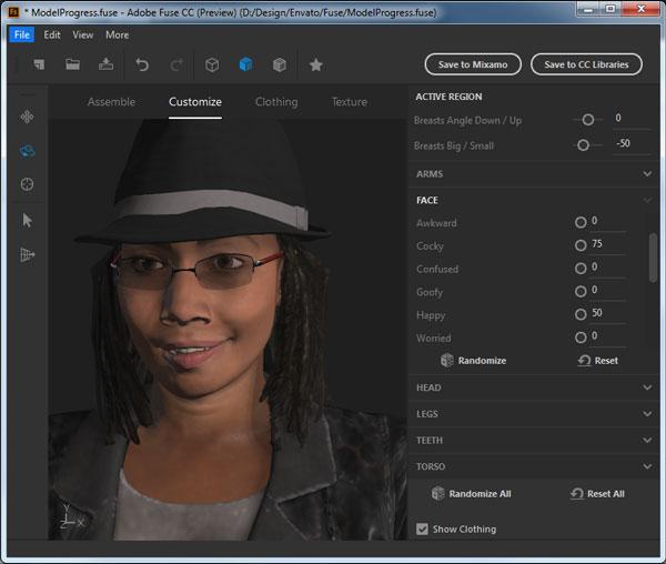 Create a custom facial expression