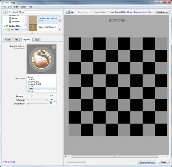 Create the Render Maps for the Checkerboard texture