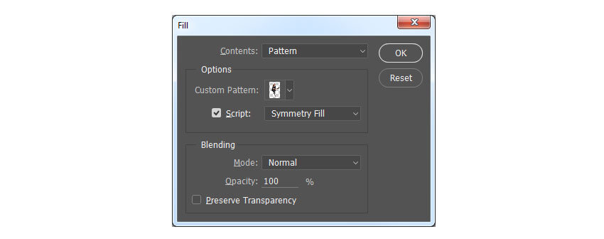 Edit Fill settings