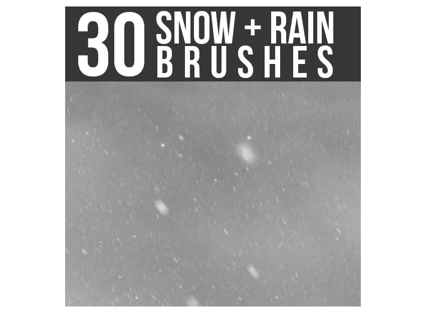 Snow and Rain Brushes