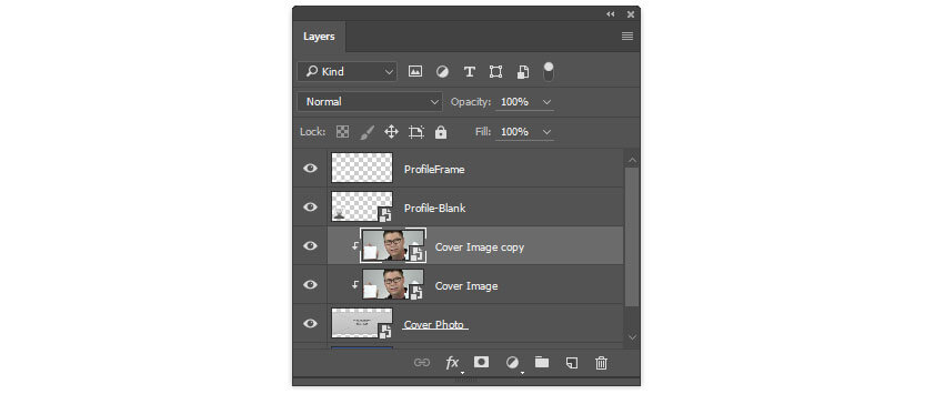 Create a copy of the cover photo layer