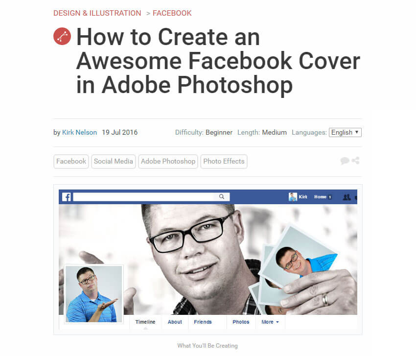 How to Create an Awesome Facebook Cover in Adobe Photoshop