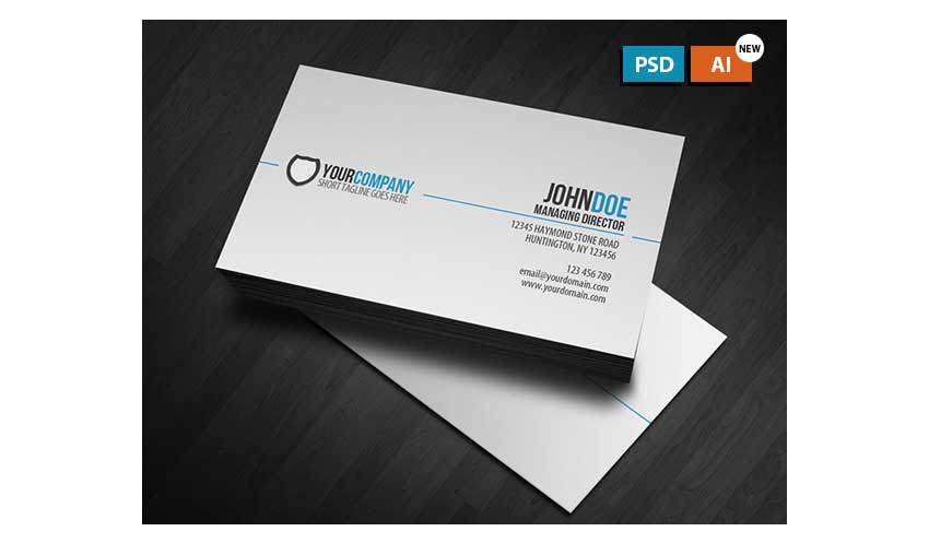 Simple Professional Business Card by vglenngoh
