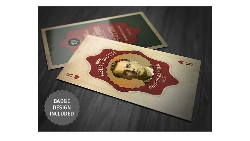 Vintage Playing Card - Business Card by cruzine