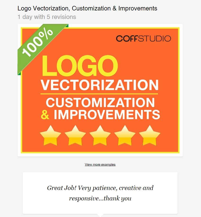 Logo Vectorization Customization  Improvements