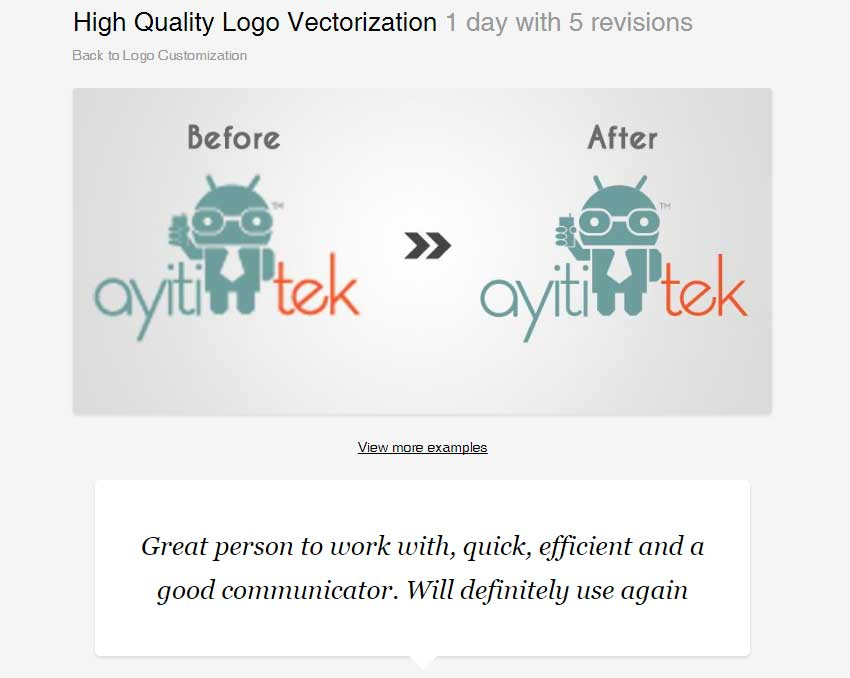 High Quality Logo Vectorization