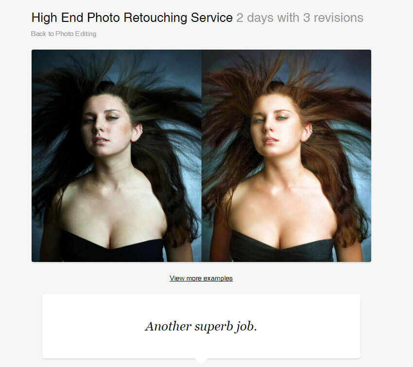 High End Photo Retouching by Mudi