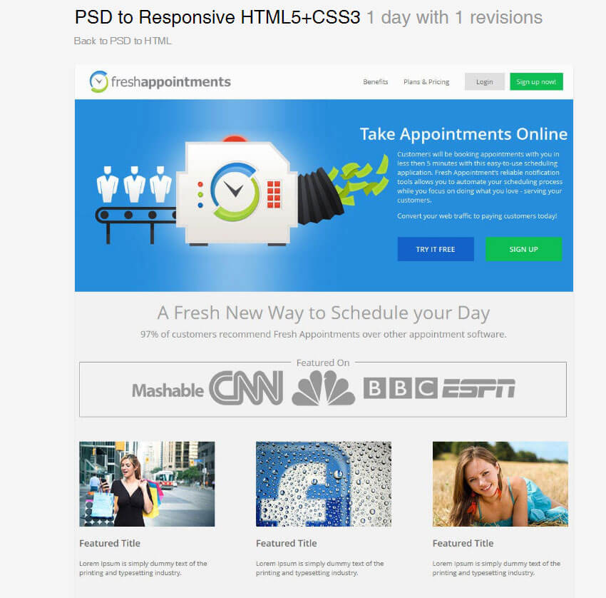 PSD to Responsive HTML by superhero