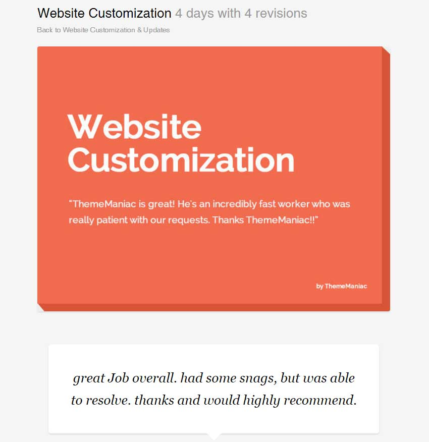 Website Customization by ThemeManiac