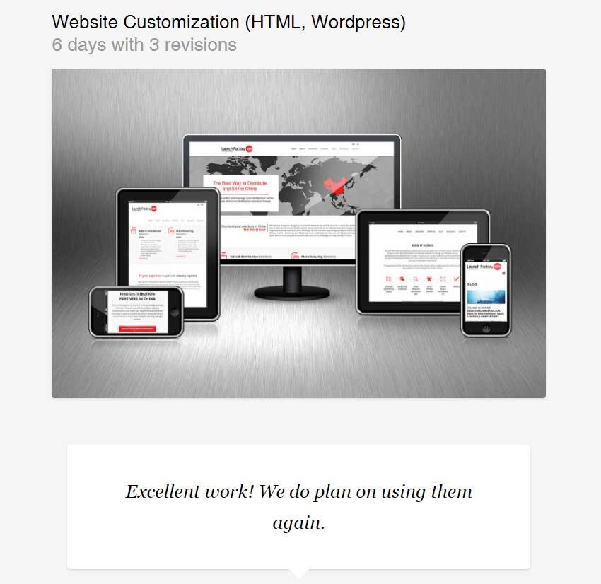 Website Customization HTML Wordpress by glowform