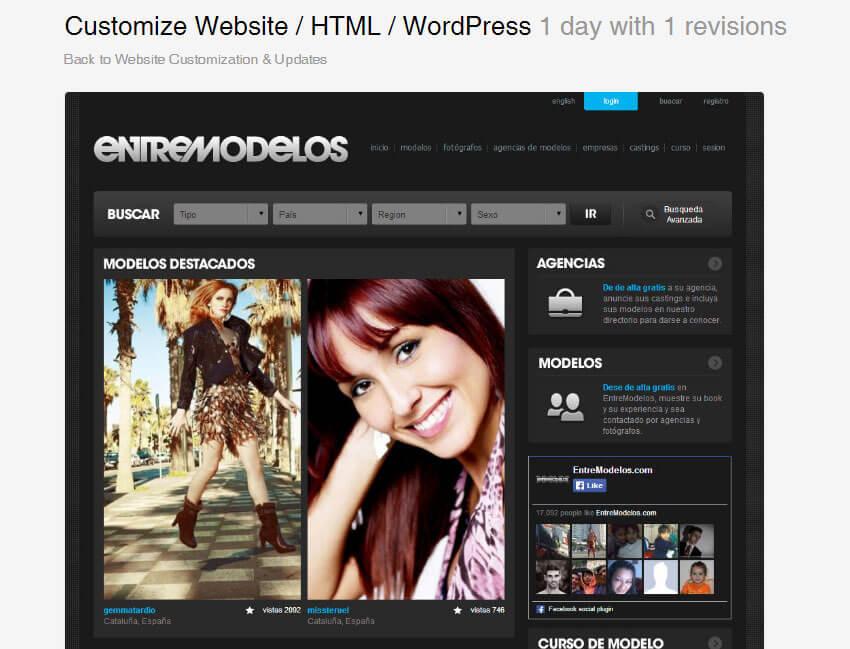 Customize Website  HTML  Wordpress