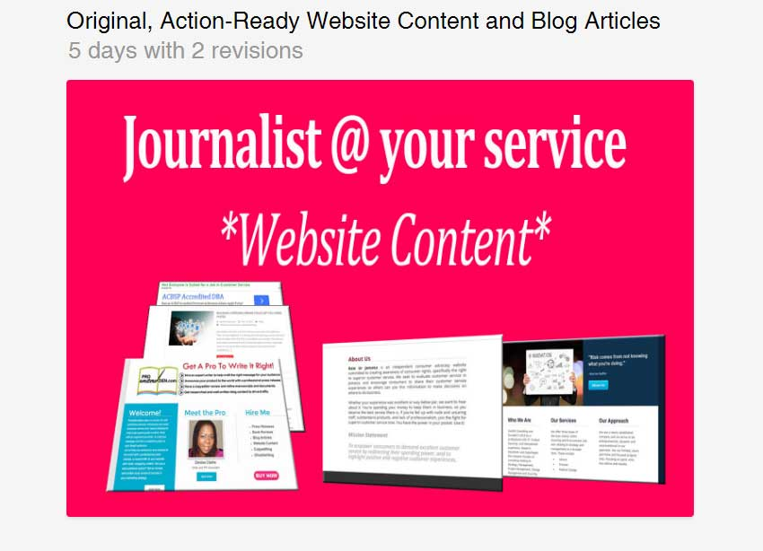 Original Action-Ready Website Content and Blog Articles by Prowritersden