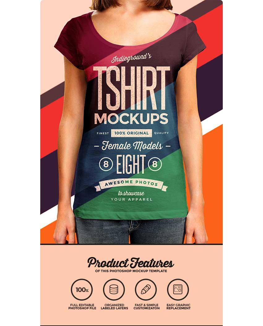 Women T-Shirt Mockup