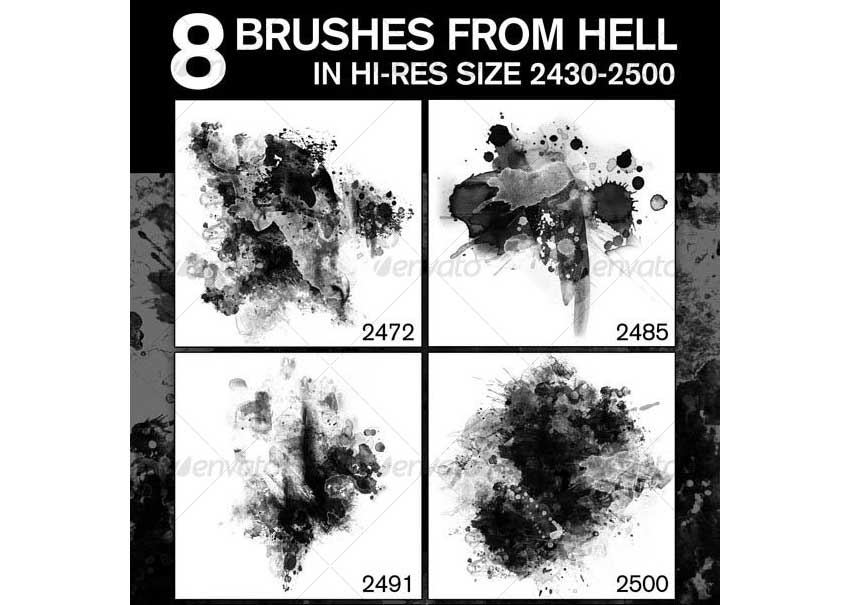 8 Fabulous Hi-Res Brushes from Hell