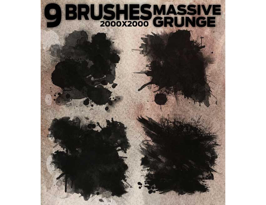 9 Massive Grunge Brushes