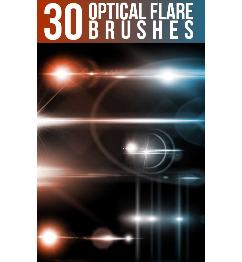 30 Optical Flare Brushes