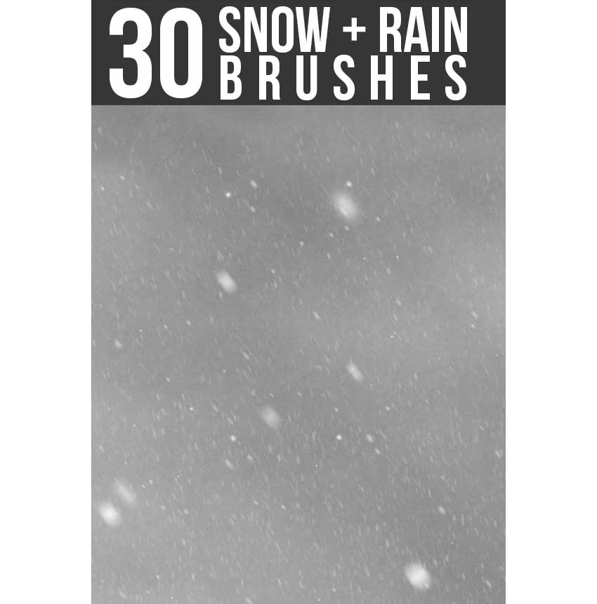 Snow  Rain Brushes