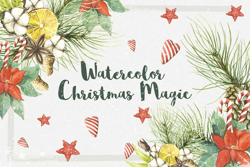 Watercolor Christmas Magic