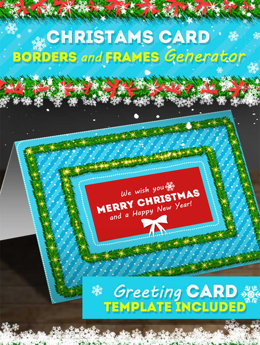 Christmas Card Borders and Frames Generator