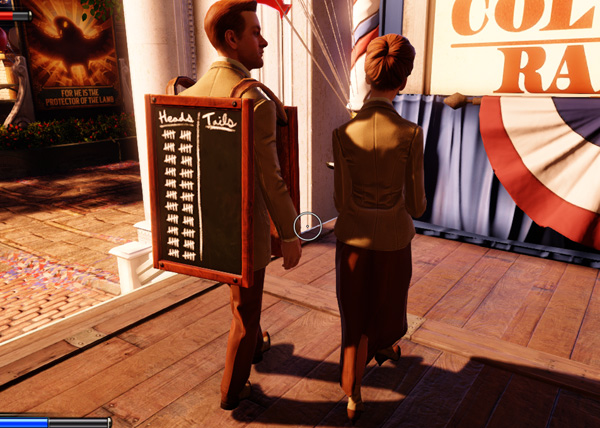 Bioshock Infinite heads and tails