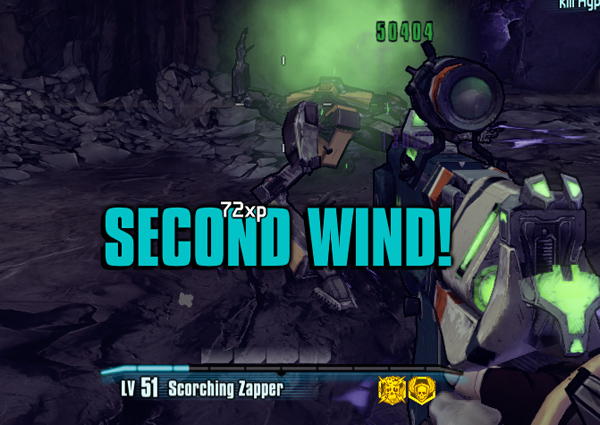 Borderlands 2 second wind