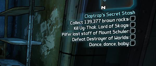 Borderlands 2 Quest Claptraps Secret Stash
