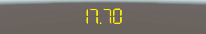The timer will turn yellow when less than 20 seconds