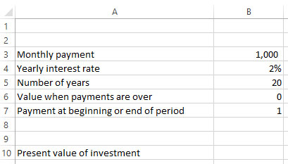 Spreadsheets For Finance Calculating Present Value And