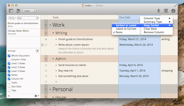 How To Build Your Own Productivity System With Omnioutliner