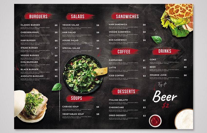 How to Create a Burger Menu Template in Photoshop