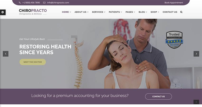Chiropracto - Physical Therapy WordPress Theme
