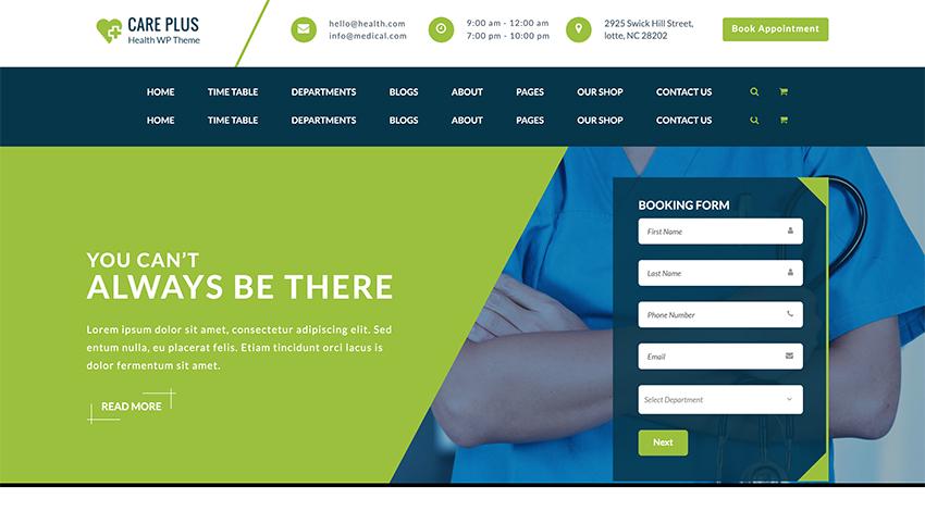 CarePlus - Health  Medical Responsive WordPress Theme