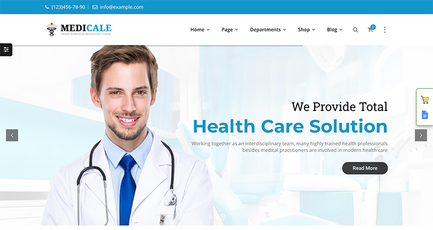 Medical Health Doctor Office Website Template