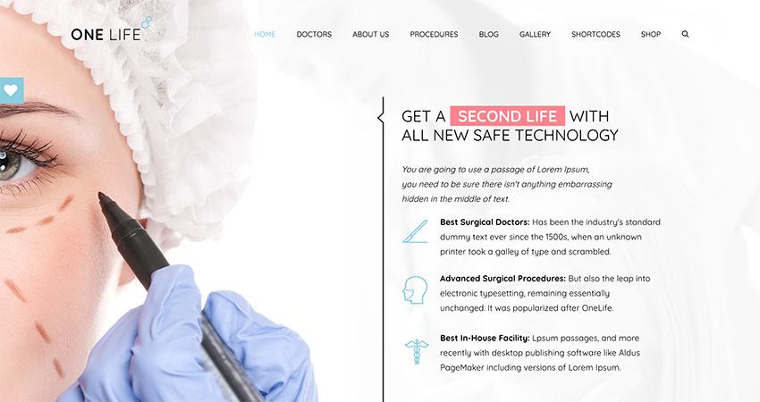 OneLife - Doctor Medical  Health WordPress