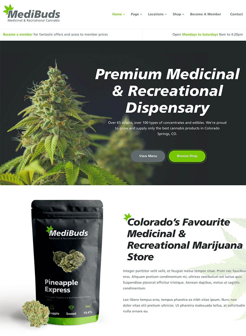 Medibuds - Medical Marijuana Dispensary WordPress Theme
