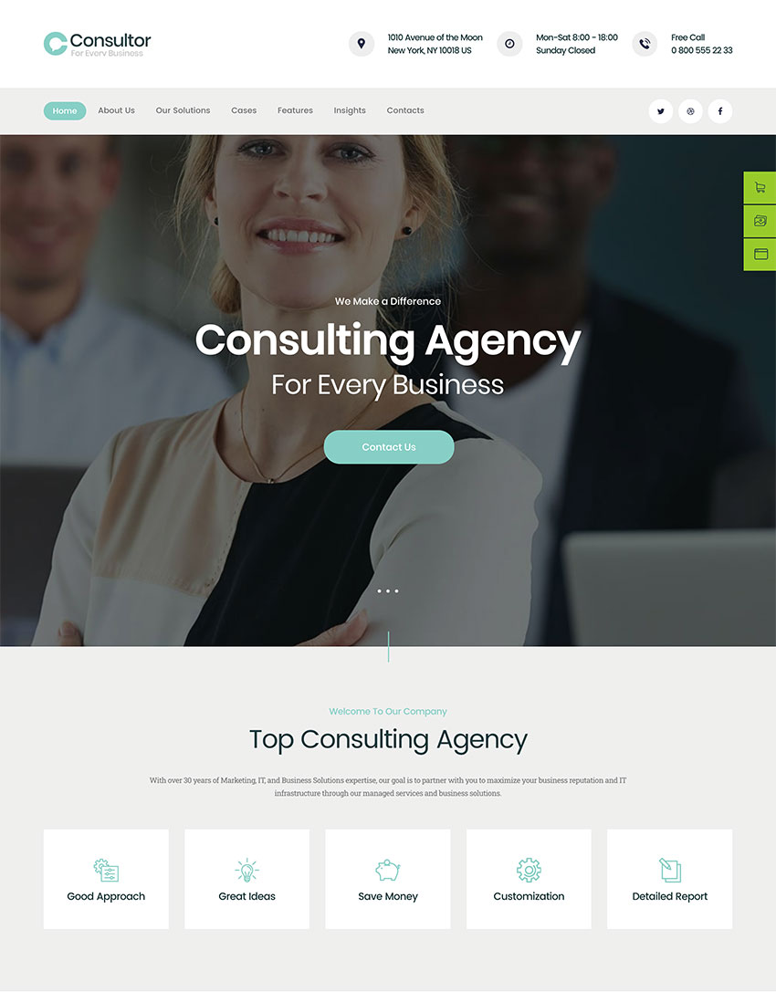 Consultor  A Business Financial Advisor WordPress Theme