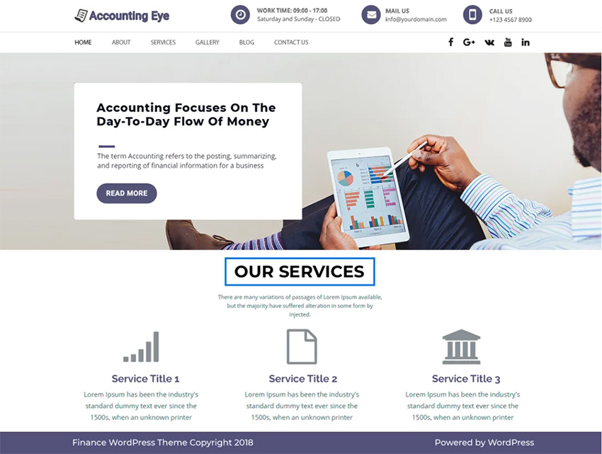 Finance Accounting Free WordPress Theme